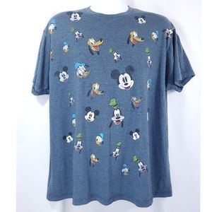 Disney Character Faded Short Sleeve T-shirt